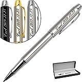 Personalisierter Kugelschreiber-Gravur Kugelschreiber mit Namen, Text oder Logo,tolle Geburtstag, Hochzeit, Jubiläum Geschenk-Encre noire et 0.7mm
