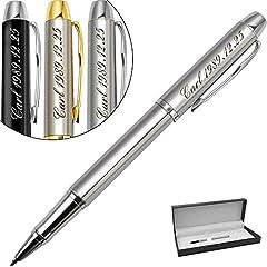 Idea Regalo - Penne personalizzate-regalo personalizzato con il tuo nome logo o slogan per compleanno, festa-Inchiostro nero e 0,7 mm