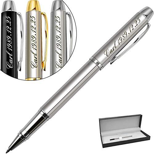 Boligrafo personalizado,regalos personalizados con nombre,logo,Regalo Ideal para aniversario de bodas-Tinta negra y 0.7mm