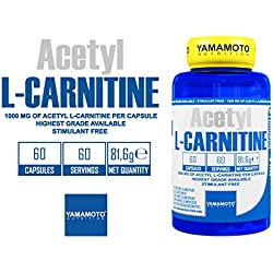 Yamamoto Nutrition Acetyl L-Carnitine 1000Mg Suplemento Dietético - 60 Cápsulas
