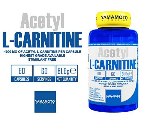 Yamamoto Nutrition Acetyl L-Carnitine 1000Mg Suplemento Dietético - 60 Cápsulas