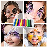 Smony - Toys & Games 12 PCS Face Paint Crayons Kit, Bright Colors Face Paint Kit Set for Kids, Safe & Non-toxic Face Body Crayons, Perfect for Halloween Makeup, Party or Pretend Play