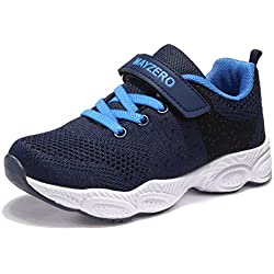 MAYZERO Bambina Scarpe da Ginnastica Ragazzo Ragazza scarpe Unisex Kids Scarpe da Corsa Leggera in Mesh Atletico Leggero per Ragazzi Ragazze Sneaker (37 EU, Blu scuro#1)