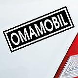 Auto Aufkleber in deiner Wunschfarbe Omamobil Oma Opa Enkel Familie Liebe 15x5 cm Autoaufkleber Sticker