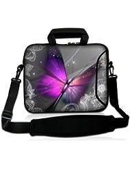 Luxburg® design housse sacoche pochette en néoprène avec bandoulière et pochette pour ordinateur portable 10,2 pouces / 12,1 pouces / 13,3 pouces / 14,2 pouces / 15,6 pouces / 17,3 pouces