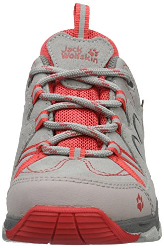 Jack Wolfskin Mtn Attack 2 Cl Texapore Low K, Scarpe da Arrampicata Unisex – Bambini Grigio (Hibiscus Red)