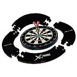 XQmax Dartscheibe & Schwarz Surround Set–Board–Schwarz Eva Surround–2Sets Darts–Oche Wurfleine