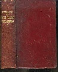 Anthologie des poètes français contemporains, tome 1 par Gérard Walch
