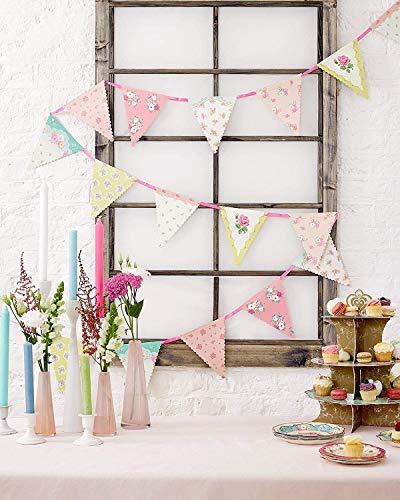 Talking Tables Truly Scrumptious Guirlande à Fleurs à Suspendre pour Anniversaire, Goûter Festif, Mariage et Festivités, Multicolore (4 m)