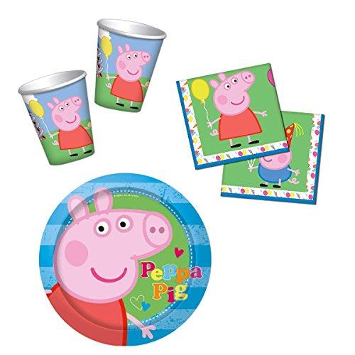 HL-Grosshandel Peppa Pig - Party Set 48-teilig
