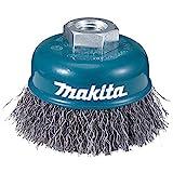Makita d-29284-Spazzola di filo di 100mm insercion M14con forma coppa ondulata in acciaio 0,3mm