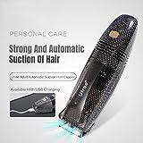 FYN Baby-und Kinder Haar-Clipper, Wiederaufladbare USB-Wasserdichte Leise Geräuschminderung Professionelle Haar-Clipper, Automatische Saug Haarschutt Schüttgutspeicher