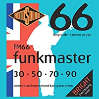Rotosound Stainless Steel Funkmaster Gauge Roundwound Bass Strings (30 50 70 90)