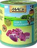 MACs Dog Lamm & Geflügelherzen | 6x 800g Hundefutter nass