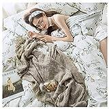 Draps Les de Fleurs sont des oreillers en Coton à Double Face Disponibles Simple Literie Textile Maison Four Seasons Universel 4 Couleurs MUMUJIN (Couleur : Seaweed, Taille : 1.5m)