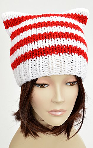 5528bcacff6 Candy Cane Hat Lollipop Christmas Hat Knitting Pattern Candy Cat Hat Cat  Ears Santa Hat Pattern