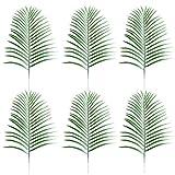 luoem hojas Artificial sintética Artificial hojas verde sola hoja para el hogar cocina fiesta decoración artesanías (verde)–6piezas
