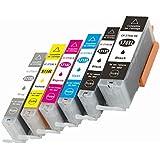 oguan® Canon 6pk Compatible Canon PGI-570X L/CLI-571X L Cartuchos de tinta (negro, foto negro, cian, Magenta, amarillo, gris) para Canon Pixma MG5750MG5751MG5752MG5753MG6850MG6851MG6852MG6853