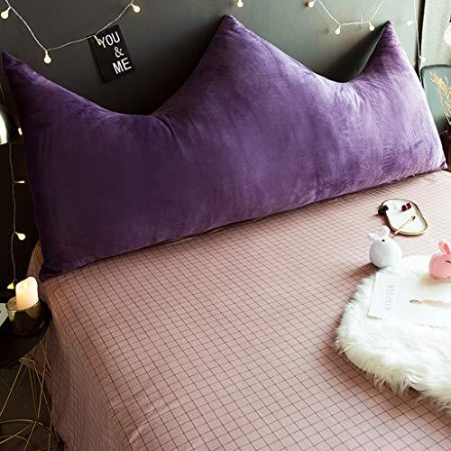 Kopfteilkissen Bedside soft package Bett langes Kissen Kopfteil Multi-Size optional Baby Velvet Schlafzimmer Crown Kissen abnehmbare Kissen große Rückenlehne (Farbe : A, größe : 100cm) - Velvet Schlafzimmer