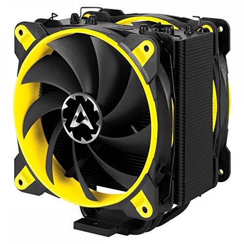 ARCTIC Freezer 33 eSports Edition - Tower CPU-Kühler mit Push-Pull-Konfiguration I 120 mm PWM Prozessorlüfter für Intel und AMD | PWM-Sharing-Technologie (PST) 200 bis 1800 U/min (GELB) (Fan Controller Touch)