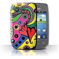 Custodia/Cover/Caso/Cassa Rigide/Prottetiva STUFF4 stampata con il disegno Vibrante Moderna per Samsung Galaxy Pocket Neo/S5310 - Partito Pop Art