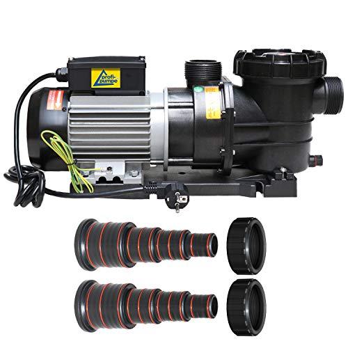 Schwimmbadpumpe POOL-STAR-1500W Poolpumpe - Filterpumpe Schwimmbad/Swimmingpool energiesparsam zuverlässig und effektiv, leichte Filterreinigung, mit 1,8m Kabel