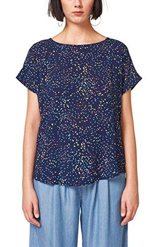 ESPRIT Damen 058EE1F011 Bluse, Mehrfarbig (Navy 400), 38