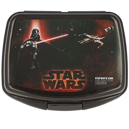Disney Star Wars Brotdose mit Darth Vader in Schwarz 16 x 12 x 7 cm Brotbox (Bösewichte In Star Wars)