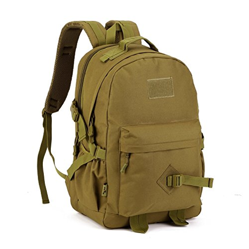 Imagen de huntvp  asalto  táctical  militar gran bolsa de hombro impermeable 40l para las actividades aire libre senderismo caza viajar color negro marrón