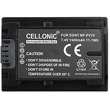 CELLONIC® Batería premium para Sony FDR-AX100 HDR-PJ810E -CX410 -CX730 -CX740 -CX900 NEX-VG30 -VG20 -VG10 -VG900 (1500mAh) NP-FV70, -FV100, -FV50 bateria de repuesto, pila reemplazo, sustitución