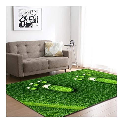 Kinderteppich 3D Green Footprint Pattern Große Teppiche Weiche Rutschfeste Kind Aktivität Spielmatte Wohnkultur Wohnzimmer Teppich Komfortable Baby Krabbeldecke Schlafzimmer Computer Stuhl Bodenmatte