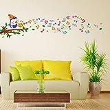 Jaamso Royals ' Kids Room Cartoon Birds Wall Sticker For Home Decor' Wall Sticker (PVC Vinyl, 30 Cm X 60 Cm, Kids Room Stickers)
