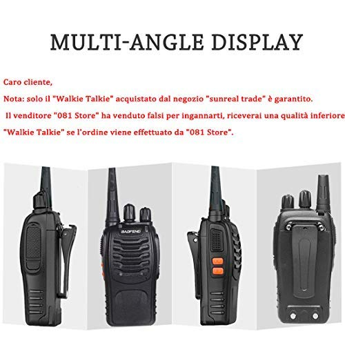 Zoom IMG-1 walkie talkie professionali sunreal bf