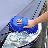 #5: Aeoss Car Washing Sponge with Microfiber Washer Towel Duster For Cleaning Car. Bike Vehicle (BLUE)