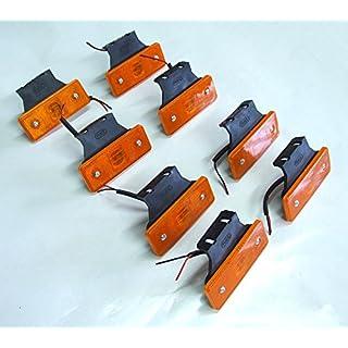 8x Seitenmarkierungsleuchten, 12V LED, Bernstein-orange, Kontrollleuchte für Anhänger/Lkw