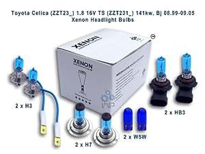 ampoules de phare de voiture d'effet de xénon H3 HB3 H7 W5W, 8-pack