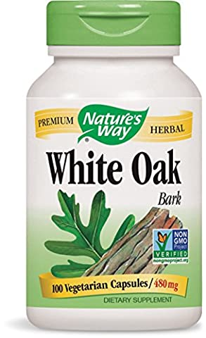 Ecorce Chene - Nature's Way White Oak Bark Capsules, 480mg