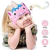 WU-MINGLU Kids Wireless Headphones, Bluetooth Sleep Headphones Kids Headband Earphones Music Fleece Headb