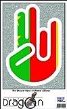 THE SHOCKER HAND - Wandtattoo / Wandaufkleber/ Aufkleber - weißer Umriss mit Fahne / Flagge - Old Cameroon-Alte Kamerun 100 cm