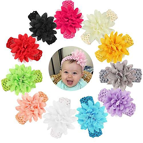 Alivier Stirnband-Chiffon- Blumen-Haar-Zubehör-Spitze-Band-neugeborene Kopfbedeckung der Baby-Mädchen
