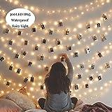 Kitlit 100er 11M Lichterkette LED Wasserdicht EU Stecker 8 Modi Stimmungsbeleuchtung für Neujahr Dekor/Festlich/Karneval/Hochzeiten/Geburtstag/Party Warmweiß Energieklasse A+++