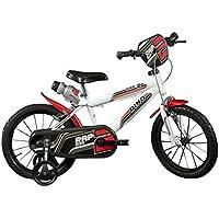 """Dino Bikes 414 U bianca bicicletta 14"""" serie MTB per bambini da 4 a 7 anni"""