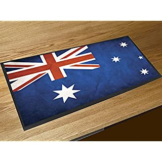 Artylicious Thekenmatte/Läufer für Bar, Motiv: Australische Flagge