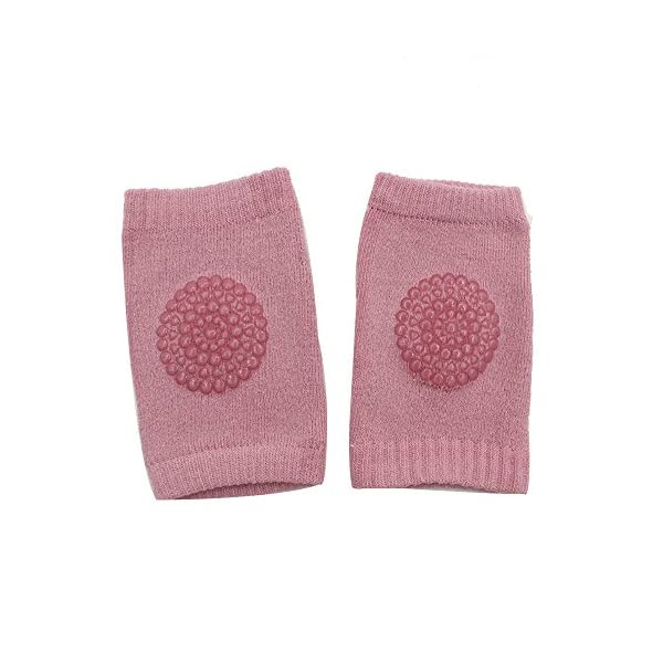 Rodilleras para niños de algodón niños strisciante irrompible Socks Terry antideslizante protección para codo de los… 1
