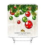 htovila Christmas Duschvorhang 180x180 Anti-Schimmel Wasserdicht mit 12 Duschvorhangringe aus Waschbar Polyester