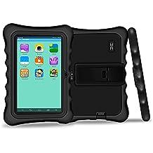 Yuntab Q88H Tablet para niños - Tablet Infantil de 7 Pulgadas Incluye iWawa Software niños Pre-instalado ( Android 4.4.2 KitKat, Quad-Core, WiFi, Bluetooth, HD 1024x600, 32 GB, 8GB ROM, Doble Cámara, Google Play) (Tableta negro, Caja negro)