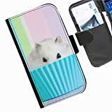 Hairyworm- Kuchen Seiten Leder-Schützhülle für das Handy Samsung Galaxy A3 (SM-A300F, SM-A300FU)