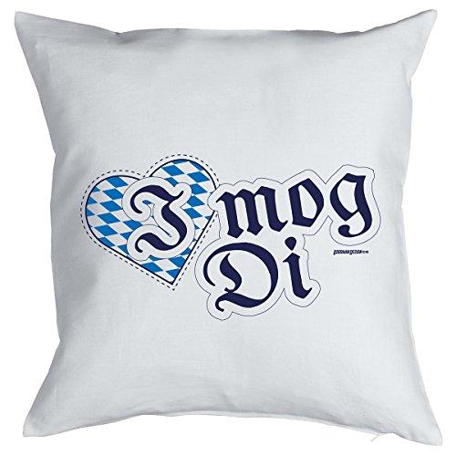 Deko/Fun-Kissen mit Füllung bayerische Gaudi- Sprüche: I mog Di - geniale Geschenkidee