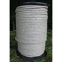 Hanfseil - Hanf-Seil Durchmesser 5 mm - 100 Meter auf Scheibenspule - 100% Naturhanf