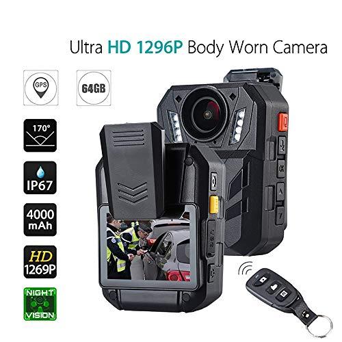 1296 P 14MP FHD 32 GB Video Recorder IR Nachtsicht Sicherheit Polizei DVR Körper Getragen Kamera Tragbare 140 ° Objektiv Tragbare Tasche Größe - Polizei-videorecorder